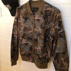 Army print Bomber Jacket